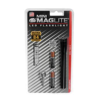 MAGLITE Mini Black LED Flashlight w/ Pocket Clip and Holster (SP32016)