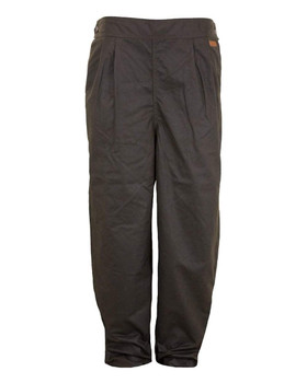 OUTBACK TRADING Unisex Oilskin Brown Overpants (2096-BRN)