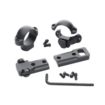 LEUPOLD Standard One-Piece Savage 10/110 Round Receiver Base and Medium Rings Combo Pack (114957)