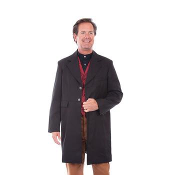 SCULLY Men's Frock Black Coat (RW042-BLK)
