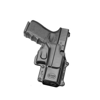 FOBUS Right Hand Evolution Belt Holster Fits Glock 17,19,22,23,31,32,34,35,Walther PK 380 (GL2E2BH)