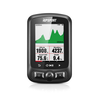 IGPSPORT iGS618 GPS Black Cycling Computer (iGS618-BLK)