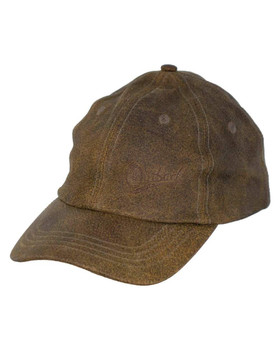 OUTBACK TRADING Leather Slugger Brown Cap (1450-BRN-ONE)