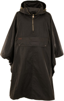 OUTBACK TRADING Packable Brown Poncho (2101-BRN-ONE)