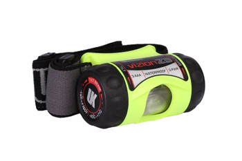 UNDERWATER KINETICS 3AAA eLED Vizion Z3 Safety Yellow Headlamp with Woven Black Band (517103)