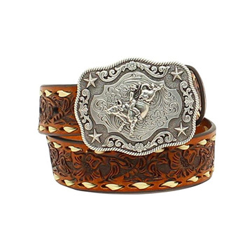 NOCONA Boy's Floral Embossed Belt with Buckle (N4436208)