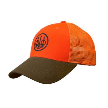 BERETTA Tobacco/Blaze Orange Upland Trucker Hat (BC641T15150850)
