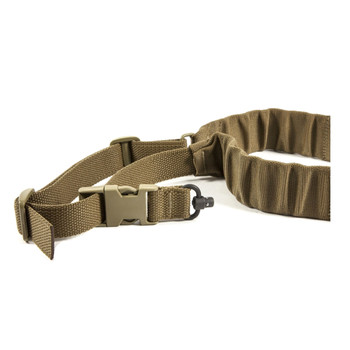 BLUE FORCE UDC Padded Bungee 1 Point Push Button Adapter Coyote Brown Sling (UDC-200-BG-PB-CB)