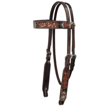 CIRCLE Y Distressed Beaded Browband Headstall (X0116-2001)