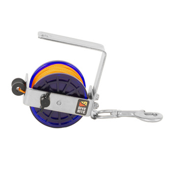 DIVE RITE Classic Orange 140ft Line Safety/Cavern Reel (RE4120)
