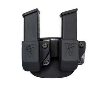 COMP-TAC Twin Paddle OWB Size 4 Magazine Pouch for Glock 9/40/45 GAP (C62404000LBKN)