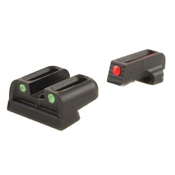 TRUGLO Brite-Site Fiber Optic Red, Rear Green Sig #8 Handgun Sights (TG131S1)