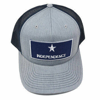 WEBY Richardson 112 Heather Grey/Navy OSFA Trucker Hat with the Historic Captain Scots Flag of Independence (HAT-112-HG/NVY-Independence)
