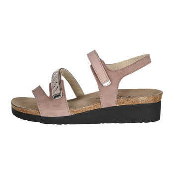 Mauve Nubuck /Sand Micro With Silver Stones /Silver Mirror Leather