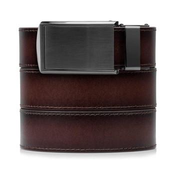 SLIDEBELTS Mahogany Premium Leather Gunmetal Buckle Belt (MHGGUN)