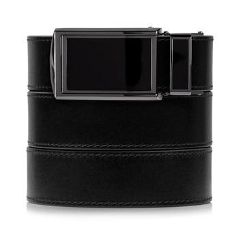 SLIDEBELTS Onyx Premium Leather Black Buckle Belt (ONYX2BLK)