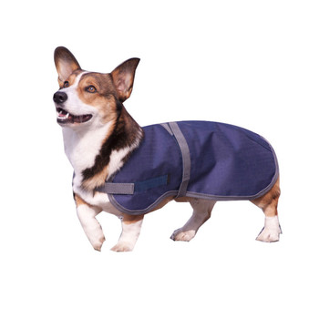 "INTREPID INTERNATIONAL 12"" High Spirit Dog Navy/Gray Rain Coat (266NY12)"