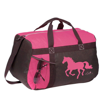 INTREPID INTERNATIONAL Pink Duffle Bag with Galloping Horse (934819)