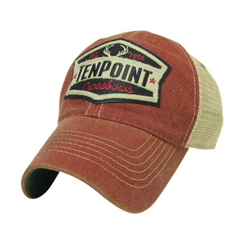 TENPOINT Patch Mesh Red/Tan Hat (HCA-62516-RT)