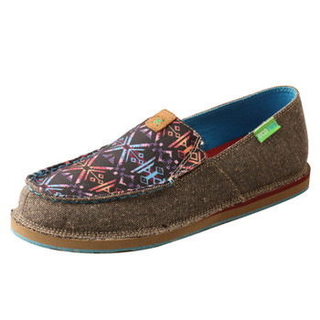 TWISTED X Women's Slip-On Eco Dust/Blue Aztec Loafer (WCL0014)