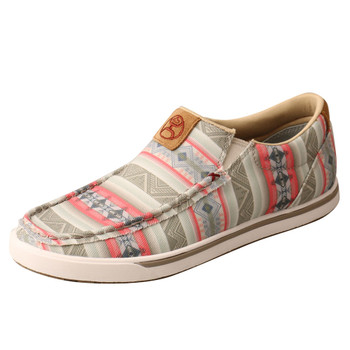 TWISTED X Women's Hooey Slip-On Loper Pink Multi Casual Shoe (WHYC021)