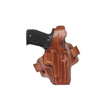 GALCO Fletch High Ride Colt 4.25in 1911 Right Hand Leather Belt Holster (FL266)