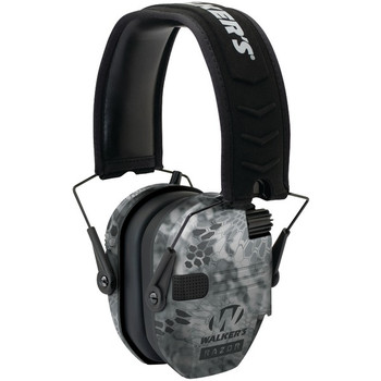 WALKERS GAME EAR Razor Series Slim Shooter Electronic Kryptek Camo Folding Muff (GWP-RSEM-KPT)