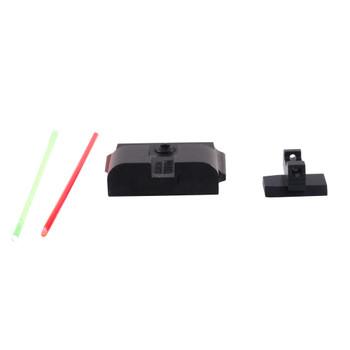 WARREN TACTICAL SERIES Sevigny Competition S&W M&P Pro/L Series Black Plain Rear/Fiber Optic Front Sights (S&W-M&P-PROLS-SCP-05)