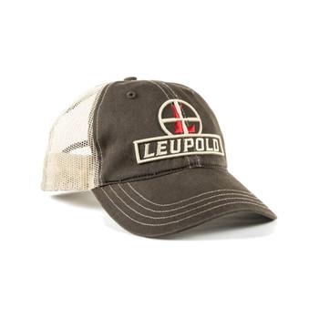 LEUPOLD Reticle Brown/Khaki Soft Trucker Hat (170579)
