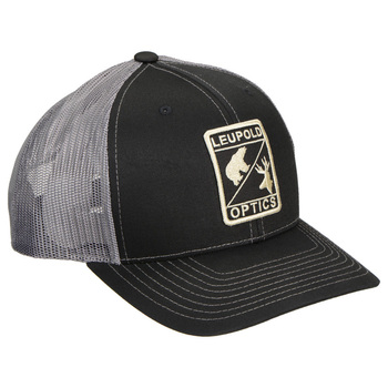 LEUPOLD Wildlife Black/Charcoal Trucker Hat (170580)