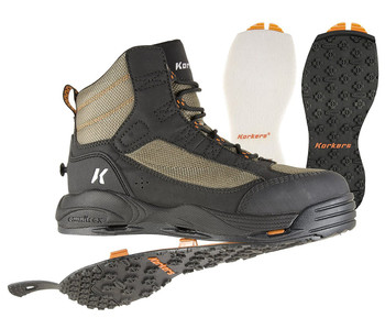 KORKERS Mens Greenback Felt Kling-On Soles Wading Boots (FB4810)