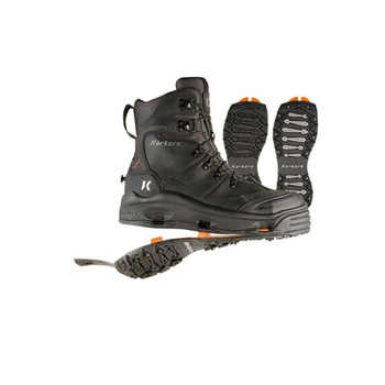 KORKERS SnowJack Black Outdoor Boot with SnowTrac and IceTrac Outsoles (OB7520BK)