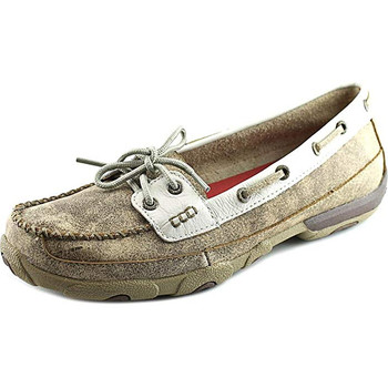 TWISTED X Womens Driving Dusty Tan/White Moccasins (WDM0009)