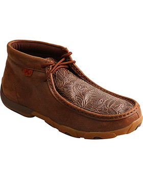 TWISTED X Womens Driving Brown/Brown Print Moccasins (WDM0079)