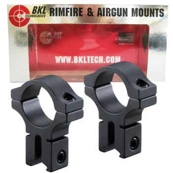 BKL Long 1in High Dovetail Scope Rings (257H-MB)