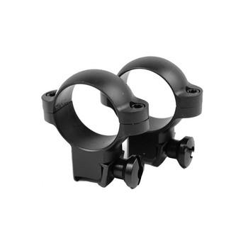 BURRIS RimFire And Airgun 1in Medium Steel Black Rings (420069)