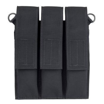 ELITE SURVIVAL SYSTEMS Velcro Attach Black Triple Magazine Pouch (HL-109-B)