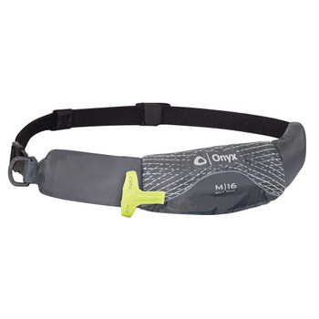 ONYX M-16 Belt Pack Manual Inflatable Grey Life Jacket (130900-701-004-19)