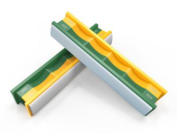 WICKED EDGE Medium 400/600 Grit Semi-Round Stones for Curved Blades (WERC400600)