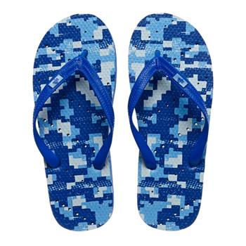 SHOWAFLOPS Mens Digital Camo Royal/Light Blue Flip-Flops (679)