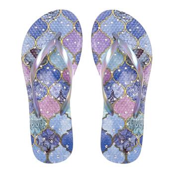 SHOWAFLOPS Womens Moroccan Multi/Purple Flip-Flops (7073)