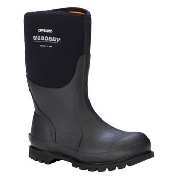 DRYSHOD Mens Big Bobby Mid Black/Grey Work Boot (BBB-MM-BK)