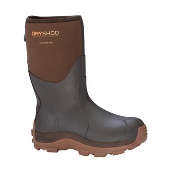 DRYSHOD Mens Haymaker Mid Brown/Peanut Hard-Working Farm Boot (HAY-MM-BR)