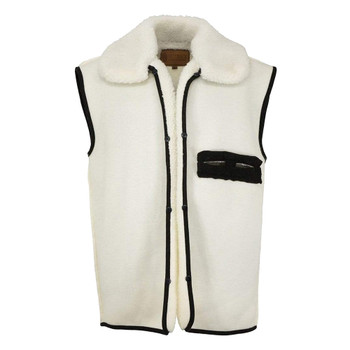 OUTBACK TRADING Wool Button-In Liner Natural Vest (2008-NAT)