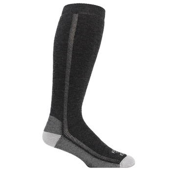FARM TO FEET Ansonville Mid-Weight Solid Wader Charcoal/Platinum Sock (8541-015)