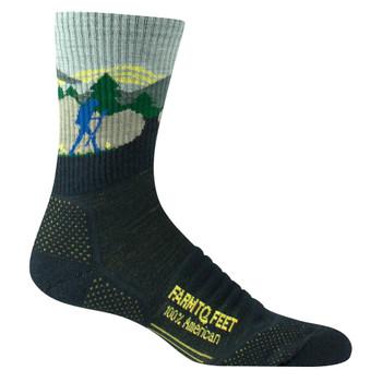 FARM TO FEET Blue Ridge Hiker Lightweight 3/4 Crew Total Eclipse Sock (9869-401)