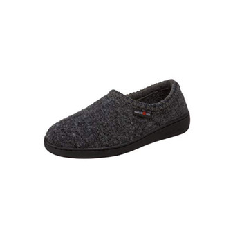 HAFLINGER ATB Grey Speckle Slippers (522801-4)