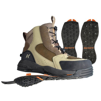 KORKERS Redside Elmwood/Dark Earth Fishing Boots with Kling-On and Studded Kling-On Soles (FB3320-WEBY)