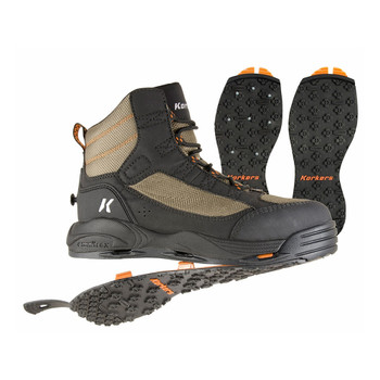 KORKERS Greenback with Kling-On & Studded Kling-On Outsole Boots (FB4820)