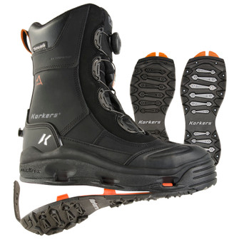KORKERS IceJack Pro Black Safety Boot with SnowTrac and IceTrac Outsoles (IB7720BK)